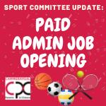 Job Posting: Sports Admin